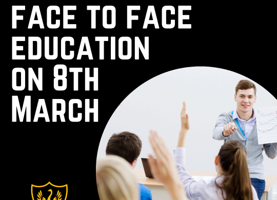 Returning to face to face education on 8th March (1)